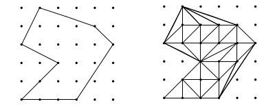 Gamabr 2: Gambaran suatu segi-n Lattice tersusun dari segitiga-segitiga dasar