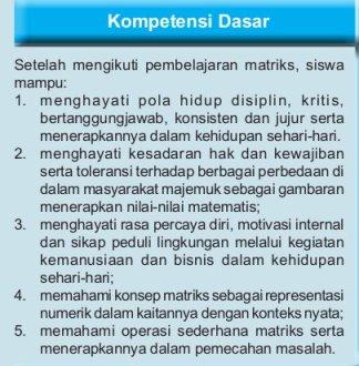 KD bab 4 matriks