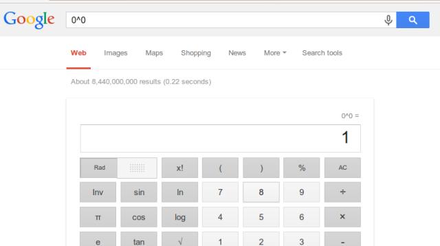 Google 0^0