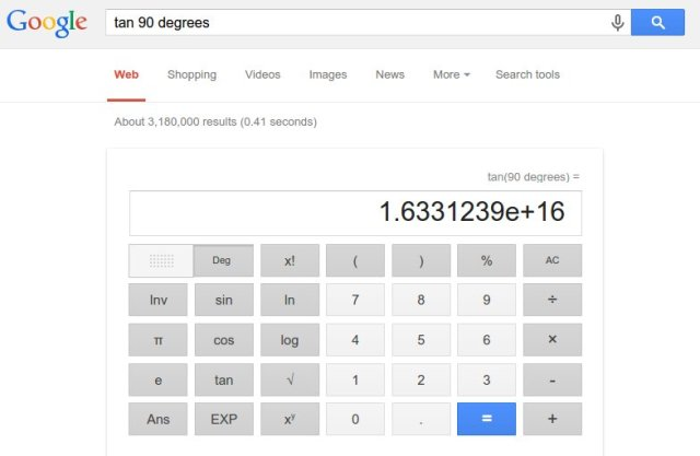 tan 90derajat google